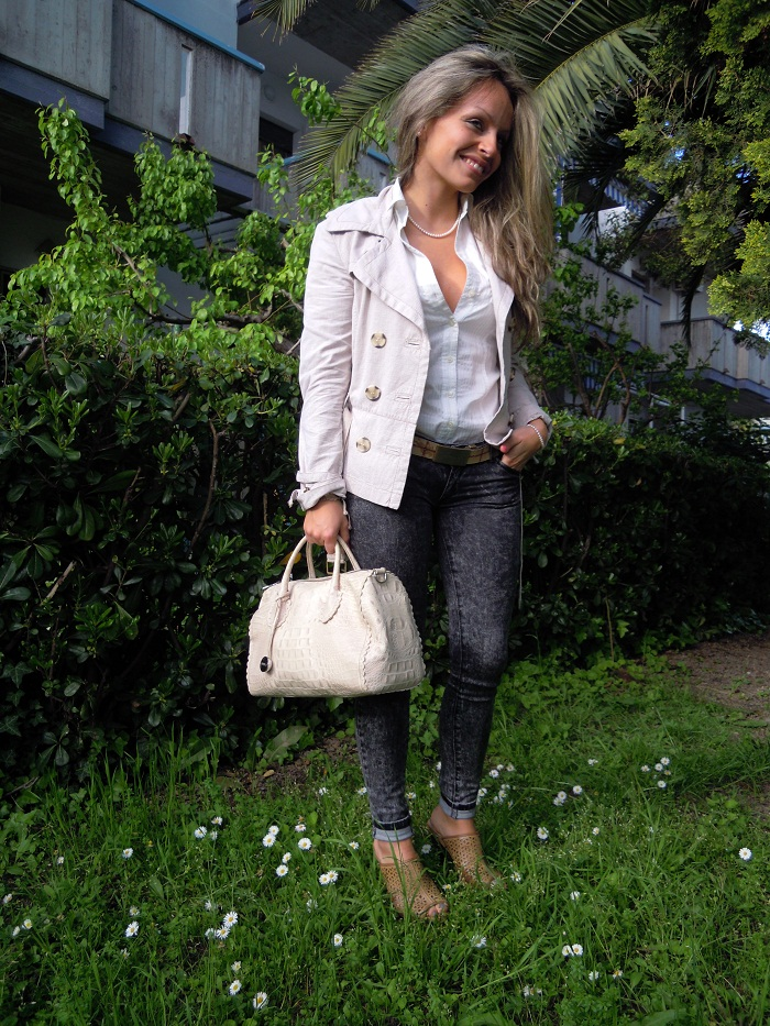 Furla & cream jacket