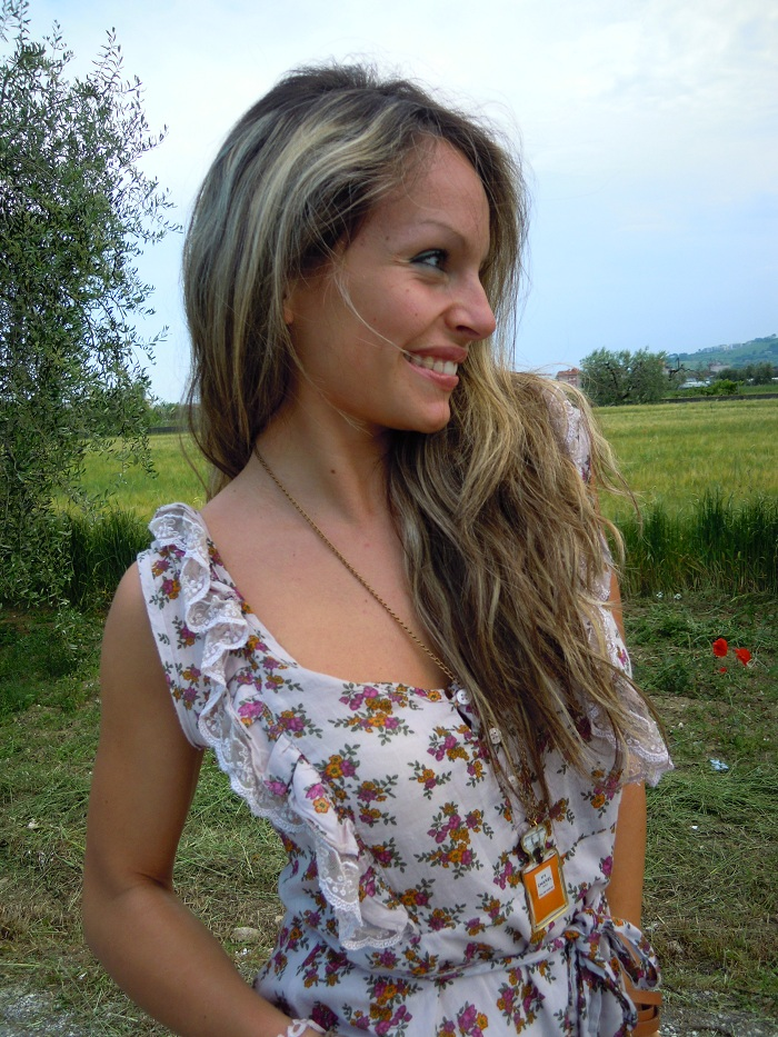 Country girl: a swirling floral dress