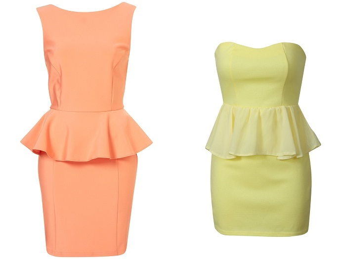 peplum dress - abito a tulipano