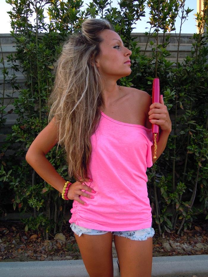 t-shirt rosa fosforescente - pink fluorescent