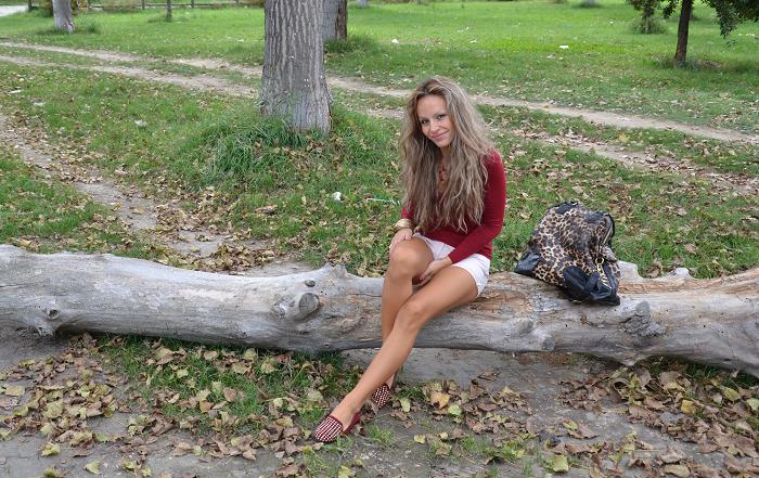 burgundy Zara slippers - It-girl by Eleonora Petrella
