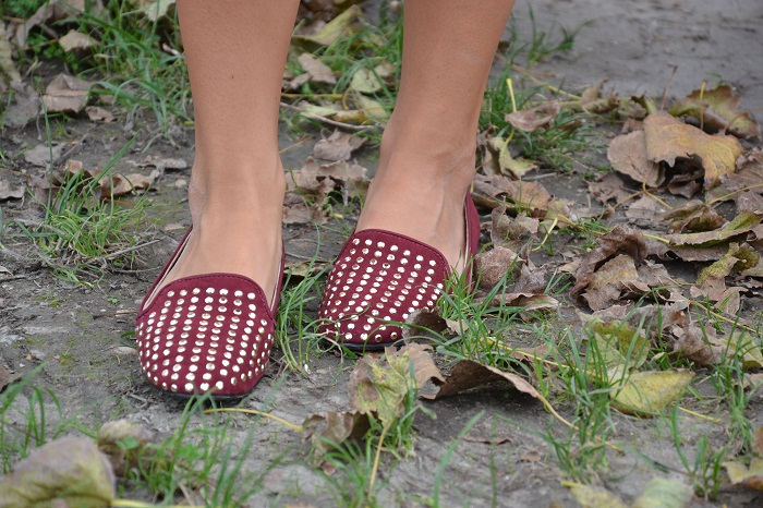 burgundy Zara slippers - It-girl by Eleonora Petrella