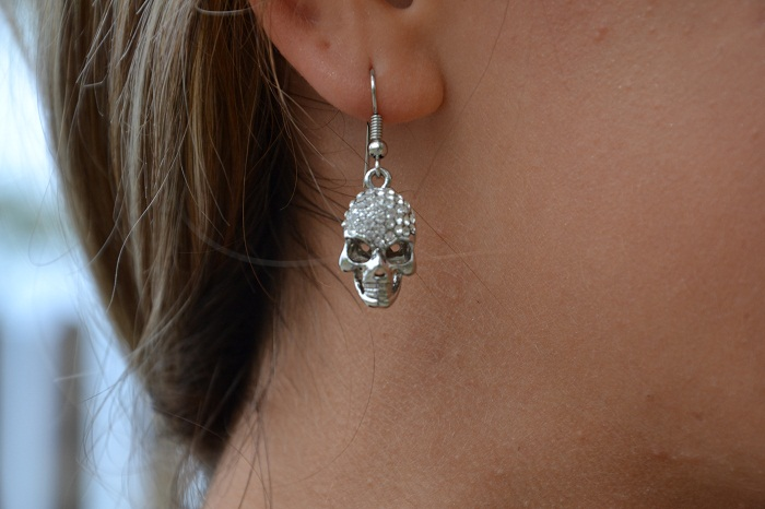 skull earrings - It-girl by Eleonora Petrella