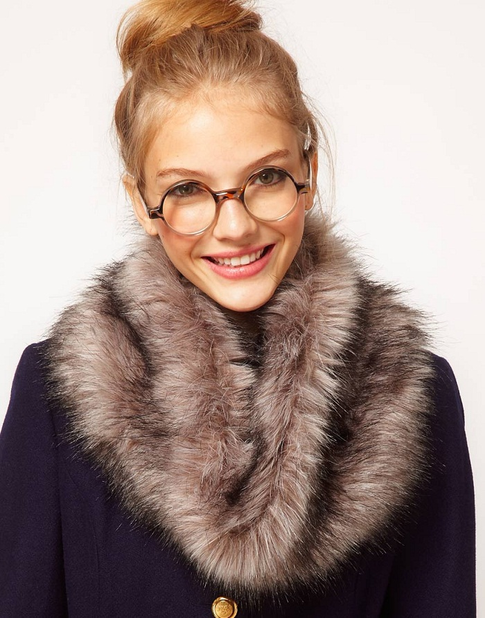 Faux fur coats, collars and hats