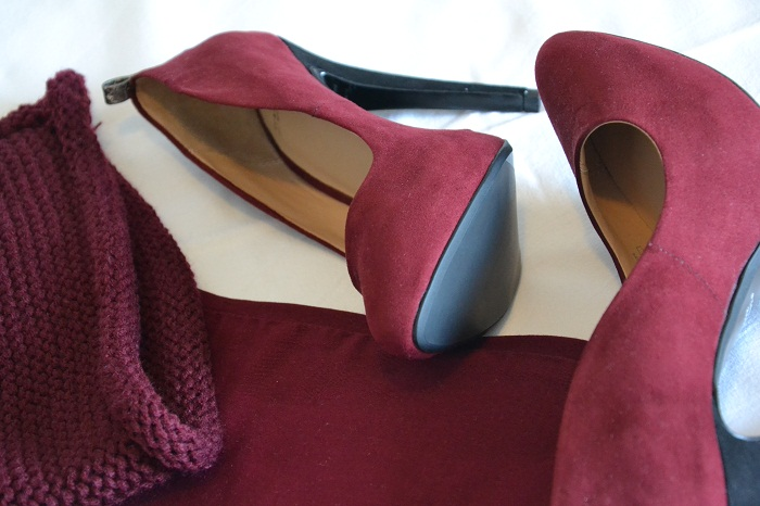 Zara heels and burgundy - It-girl by Eleonora Petrella