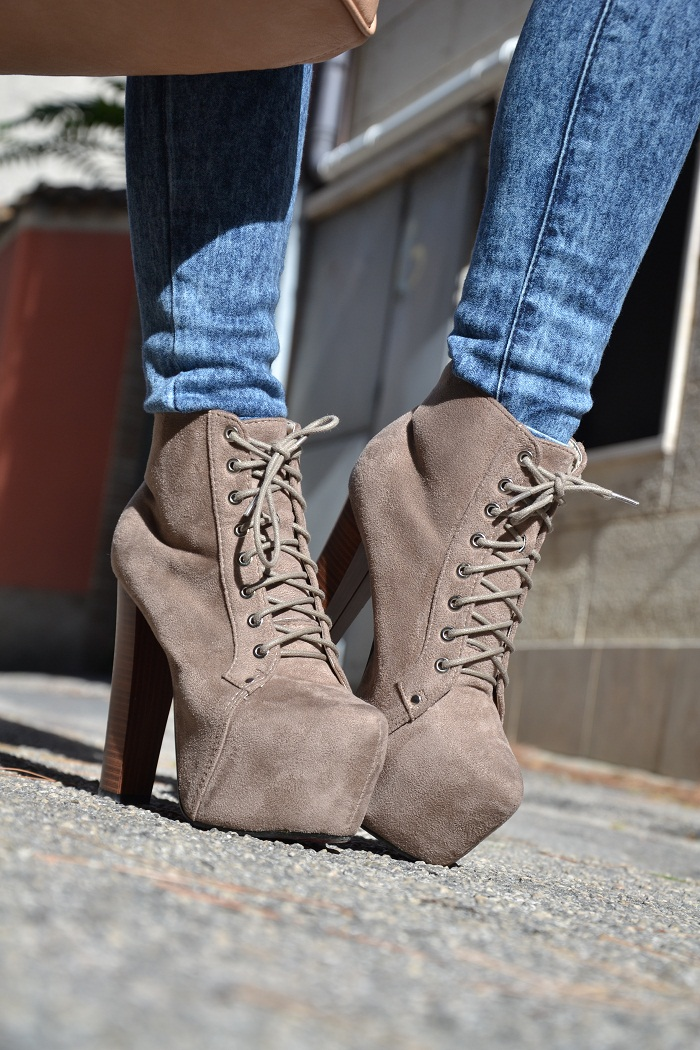 Jeffrey Campbell shoes and eco fur collar - It-girl by Eleonora Petrella