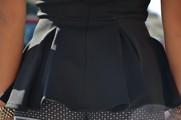Asos black peplum top - It-girl by Eleonora Petrella