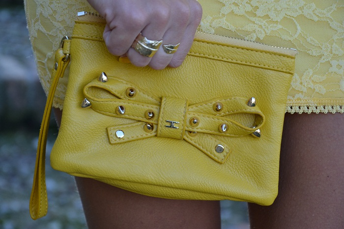 yellow dress and elisabetta franchi bag - It-girl by Eleonora Petrella