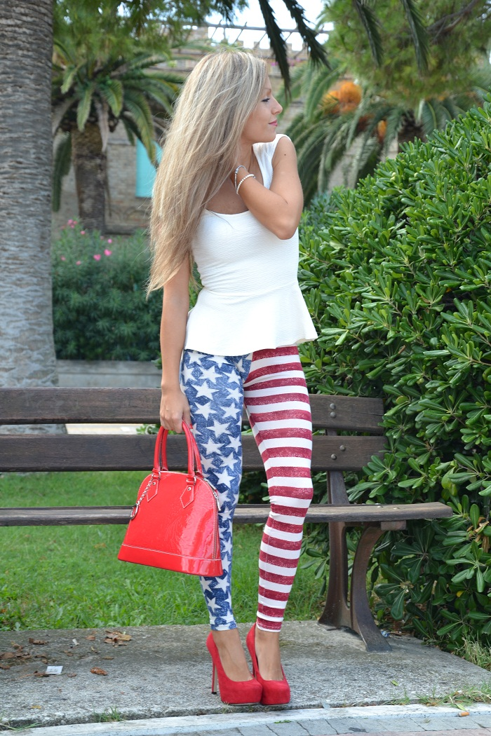 american leggins and peplum top - It-girl by Eleonora Petrella
