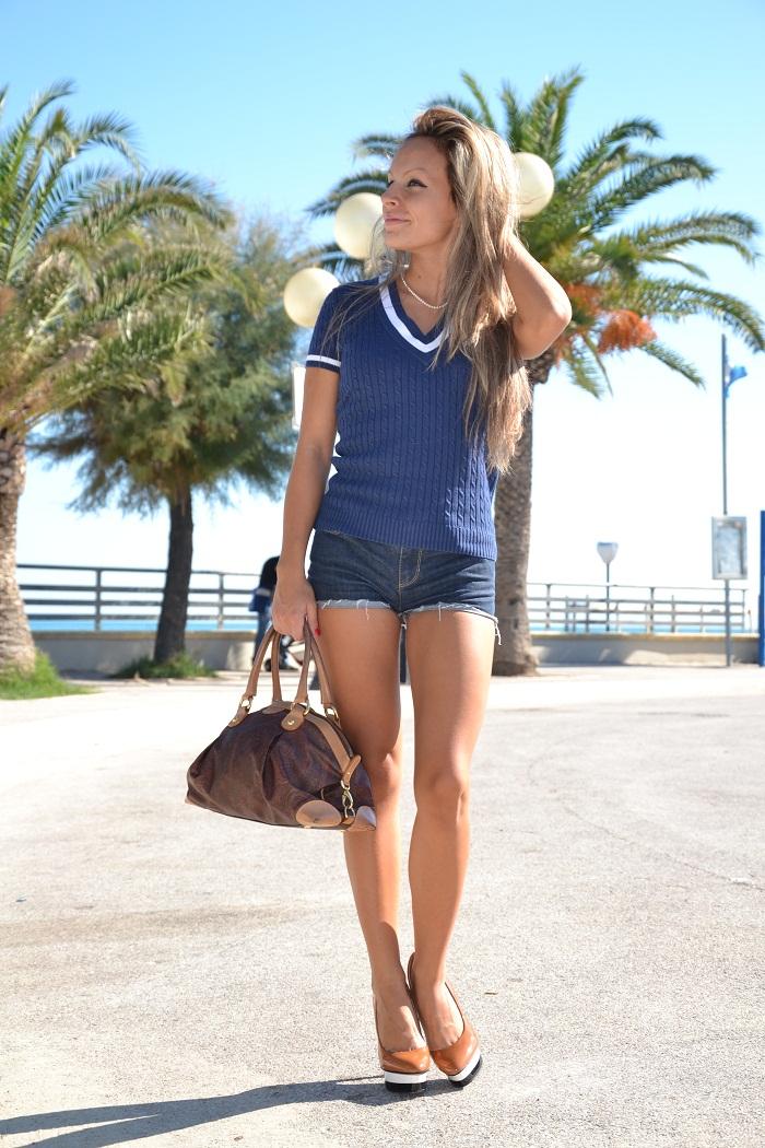 polo ralph laurent and zara heels - it-girl by Eleonora Petrella