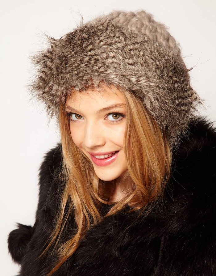 Faux fur coats, collars and hats
