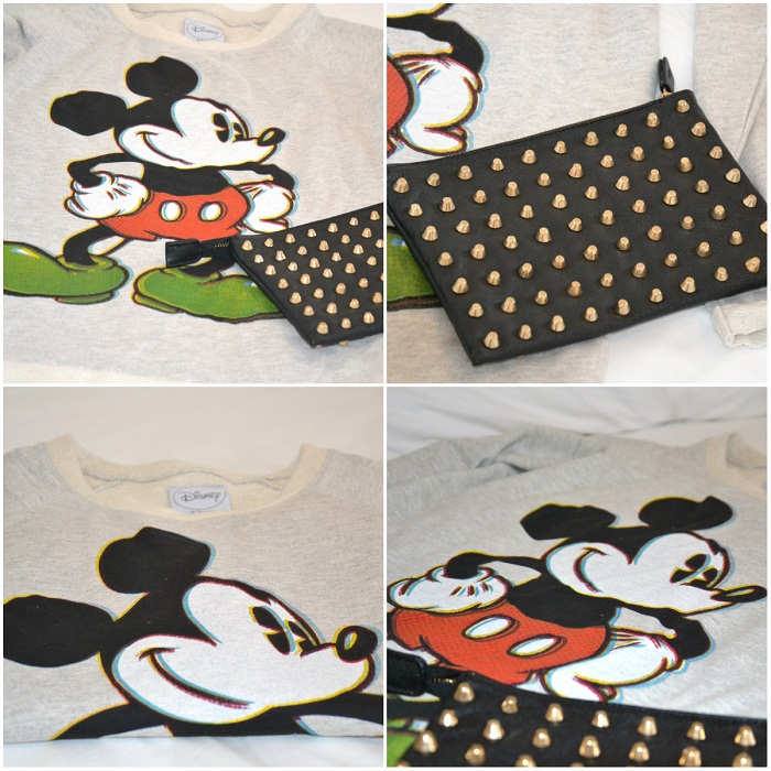 Mickey Mouse sweatshirt and studded clutch - It-girl by Eleonora Petrella