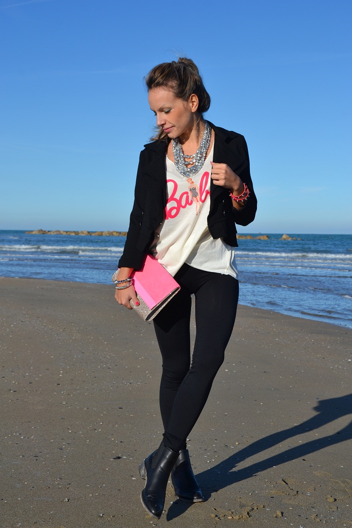 Barbie t-shirt and ankle boots- It-girl by Eleonora Petrella