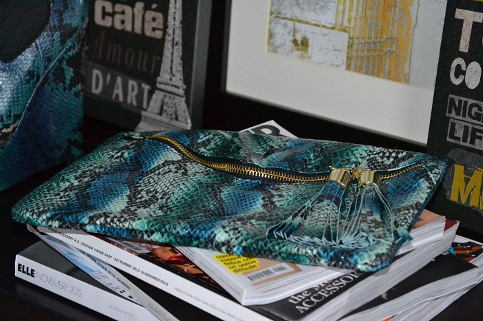 Asos python ankle boots and clutch - It-girl by Eleonora Petrella
