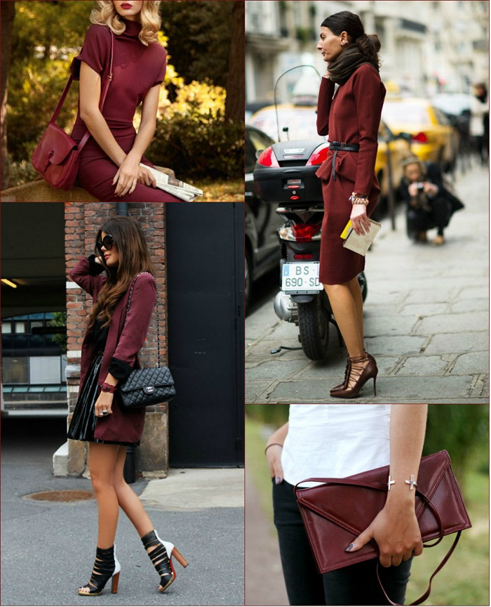 Burgundy oxblood trend F/W 2012-13 - It-girl by Eleonora Petrella