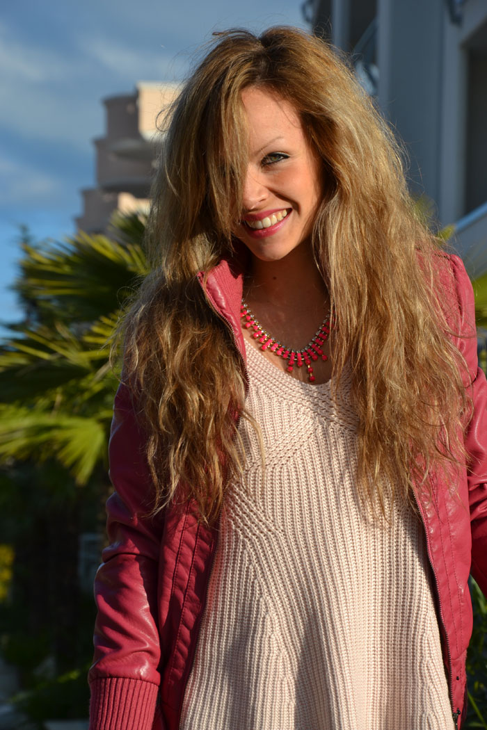 Bershka pink jacket, Elisabetta Franchi bag and Jeffrey Campbell Lita - It-girl by Eleonora Petrella