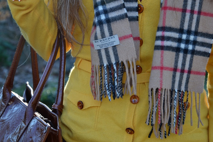 Burberry cardigan and scarf - It-Girl by Eleonora Petrella