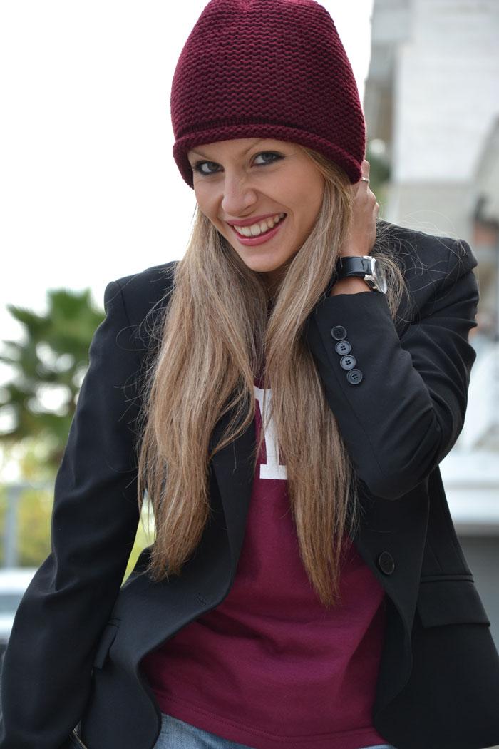 Topshop Geek burgundy t-shirt - It-Girl by Eleonora Petrella