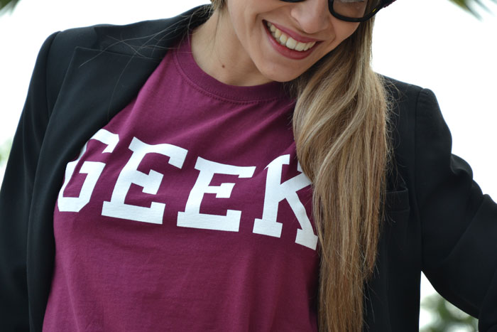 Topshop Geek burgundy t-shirt - It-Girl by Eleonora Petrella