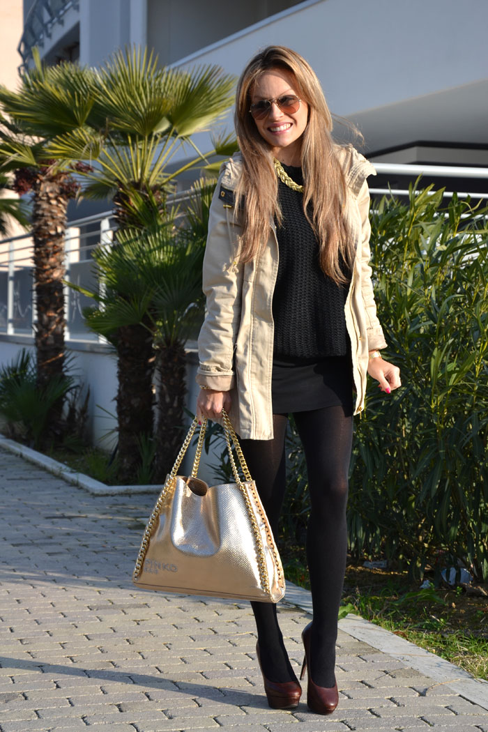 Bershka parka and Pinko bag - It-Girl by Eleonora Petrella