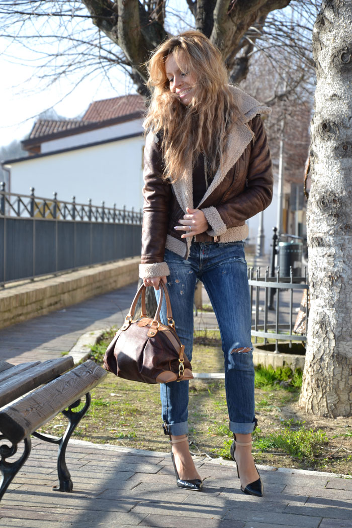 Bershka shearling jacket - It-girl by Eleonora Petrella