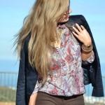 Paisley lilac shirt