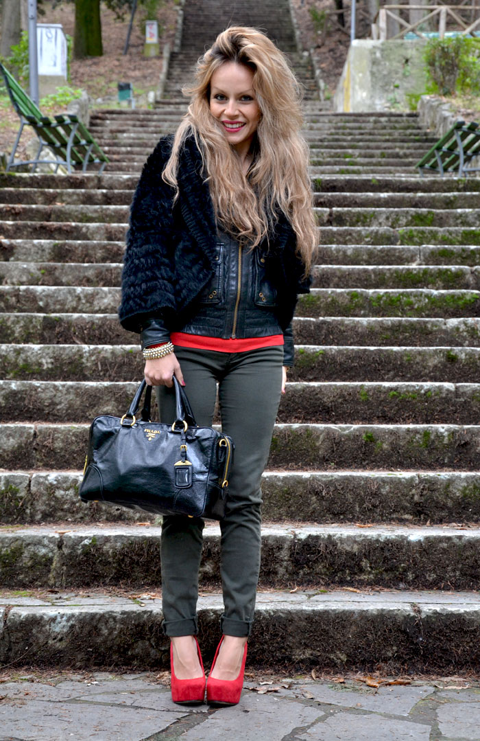 Red heels and Prada bag - It-Girl by Eleonora Petrella