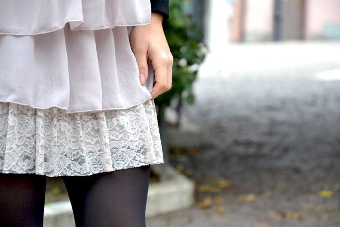 Intimissimi abito in pizzo e georgette - It-girl by Eleonora Petrella
