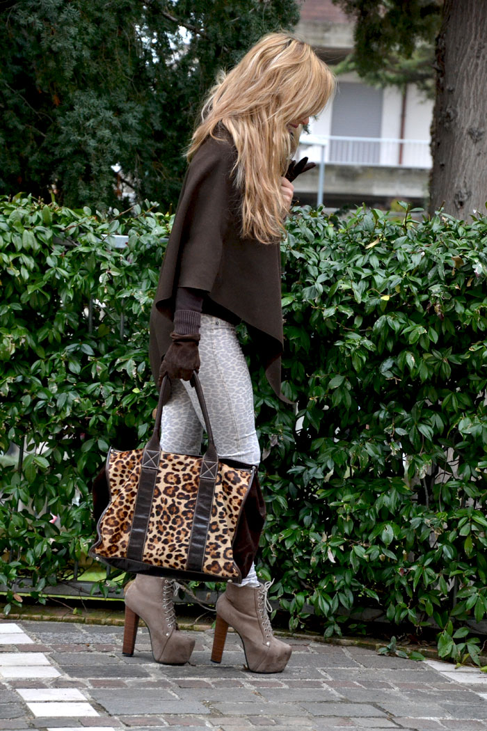 Leopard print and Jeffrey Campbell Lita - It-girl by Eleonora Petrella