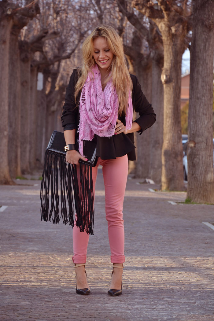 Outfit fashion blogger con foulard Tessitura Lancioni - It-Girl by Eleonora Petrella