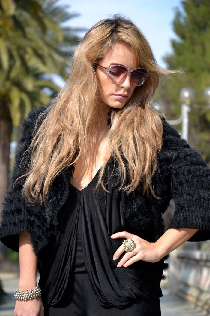 Pinko black jumpsuit and Oasap studded handbag - It-Girl by Eleonora Petrella