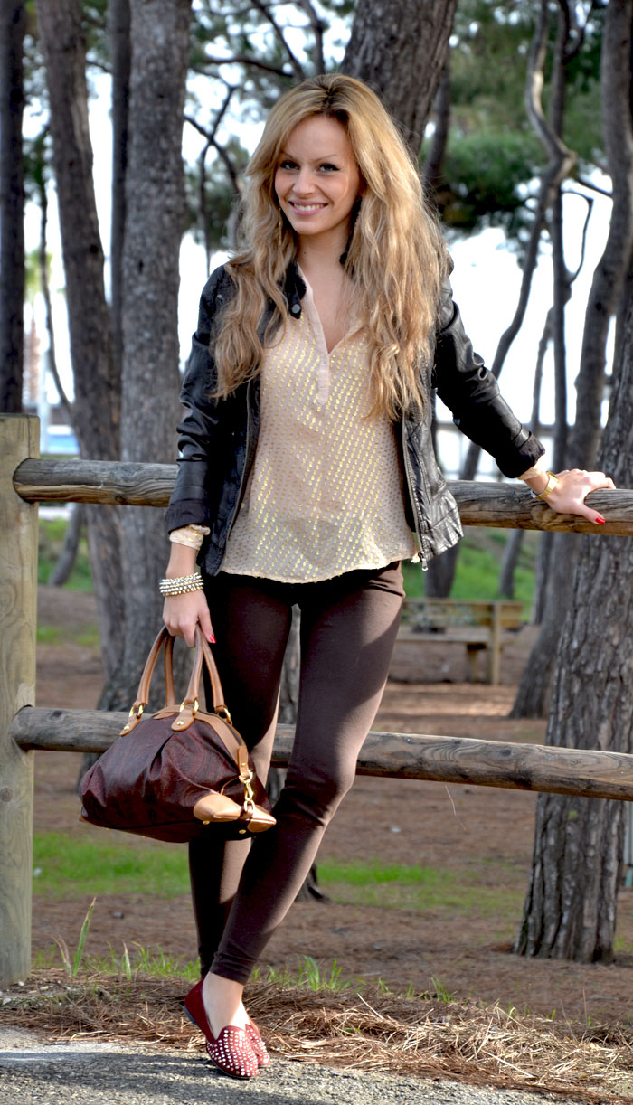 H&M brown leather jacket and Etro bag- It-girl by Eleonora Petrella