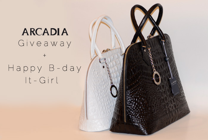 Arcadia bags Give away and first anniversary of It-Girl.it - It-Grl by Eleonora Petrella