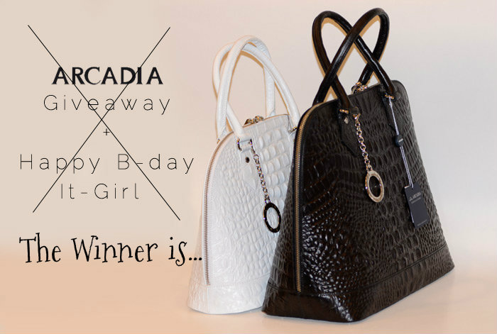 Winner Arcadia Giveaway - It Girl by Eleonora Petrella