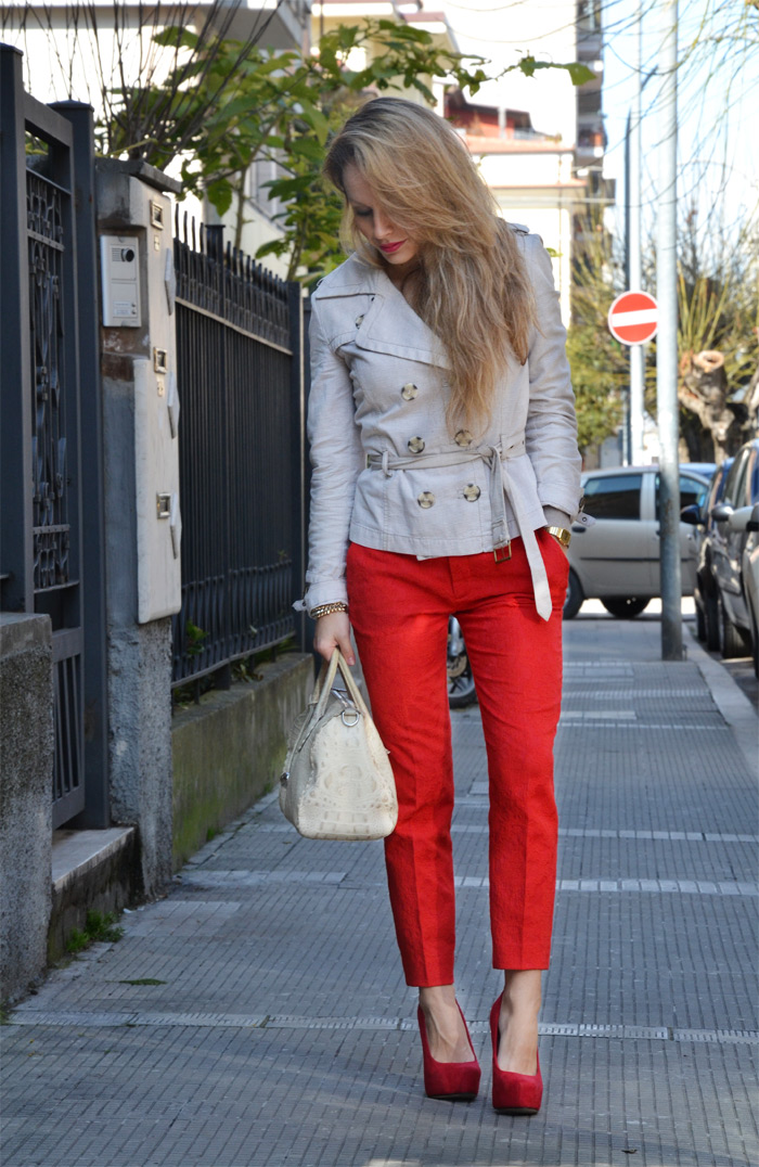 Zara blazer and pants S/s 2013 - It-Girl italian fashion blog by Eleonora Petrella