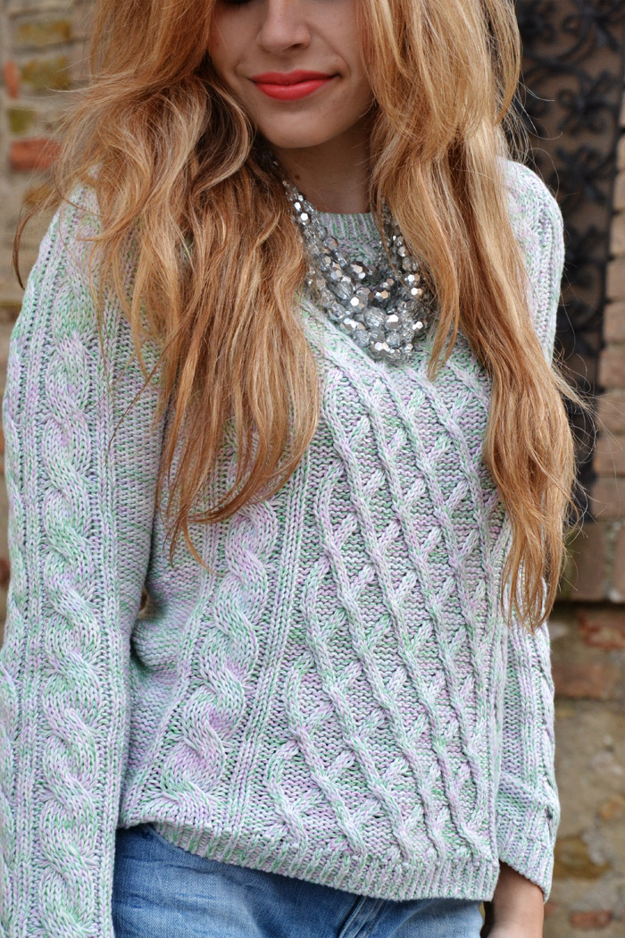 Zara skinny jeans and S/S 2013 H&M pastel sweater - It-Girl by Eleonora Petrella