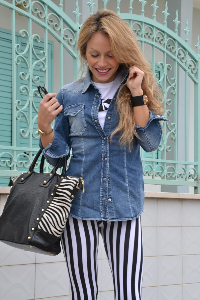 Calzedonia striped leggings a righe - It-Girl by Eleonora Petrella