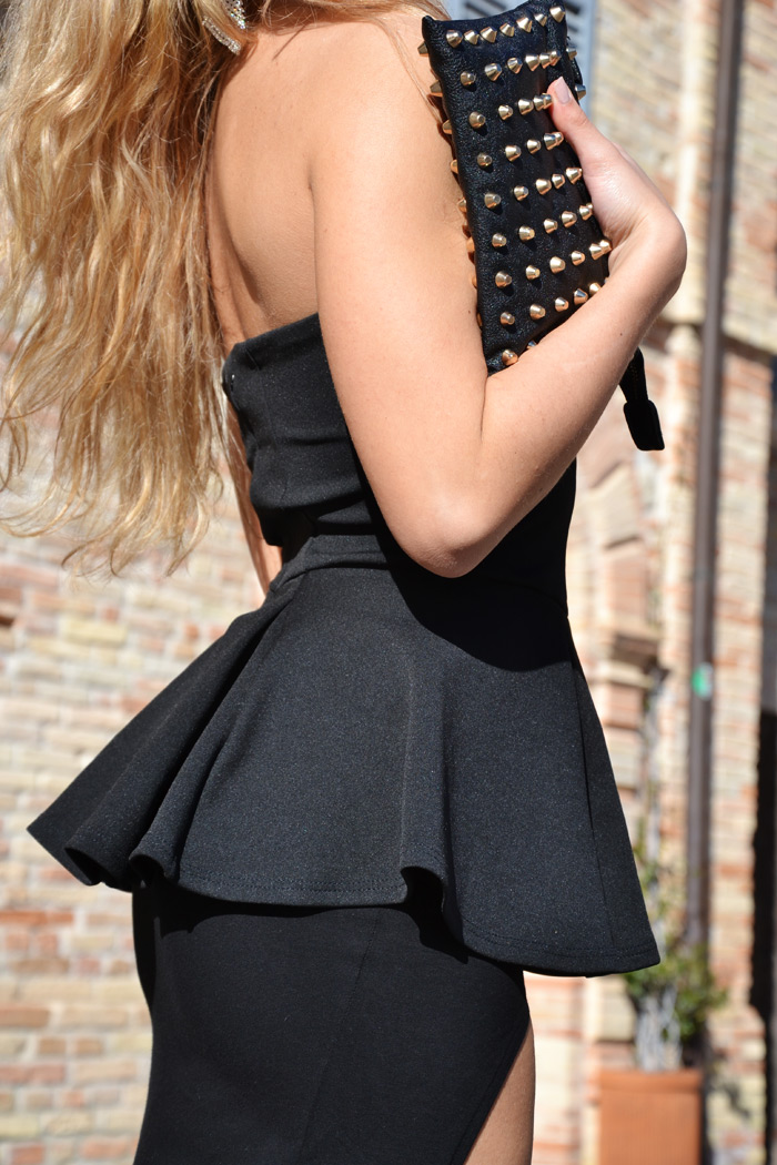Asos gonna lunga con spacco e top peplum - outfit fashion blogger It-Girl by Eleonora Petrella