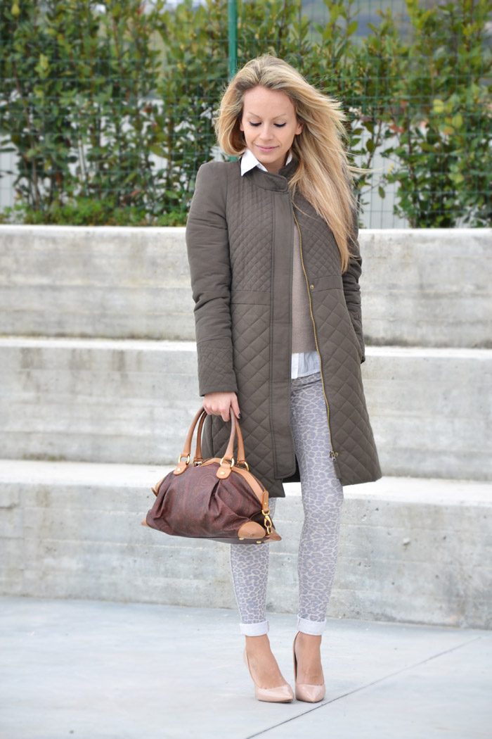 Zara olive coat and cream pumps - outfit fashion blogger It-Girl by Eleonora Petrella