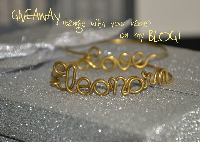 SHEBIJOU bracelet with name GIVEAWAY - fashion blogger It-Girl by Eleonora Petrella