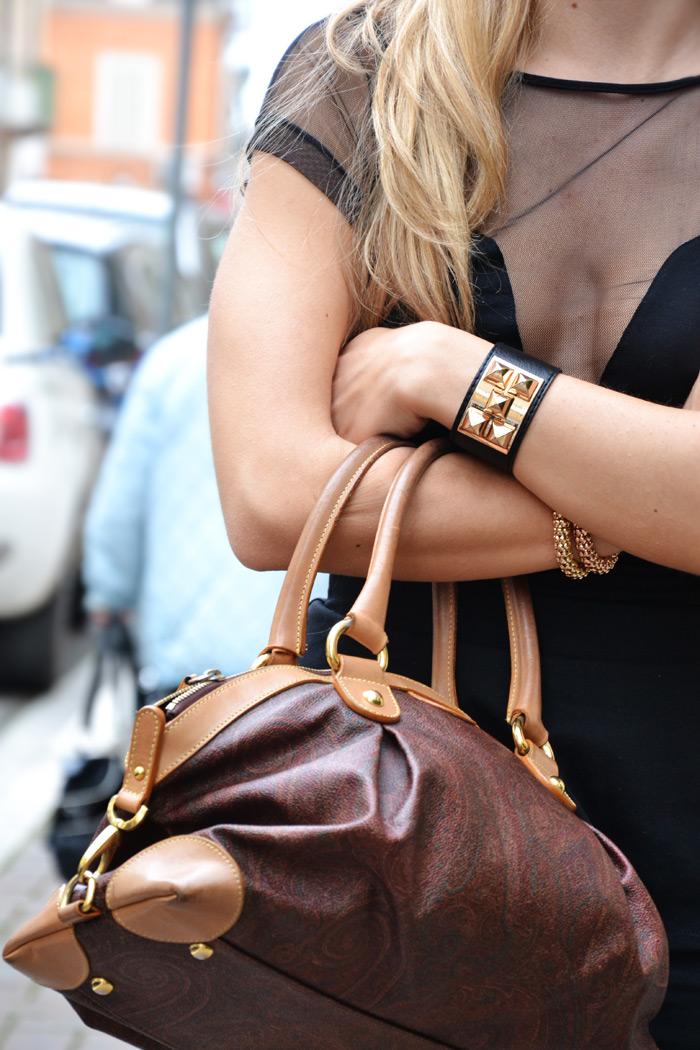 Outfit elegante fashion blogger con gonna peplo e top sexy - It-Girl by Eleonora Petrella