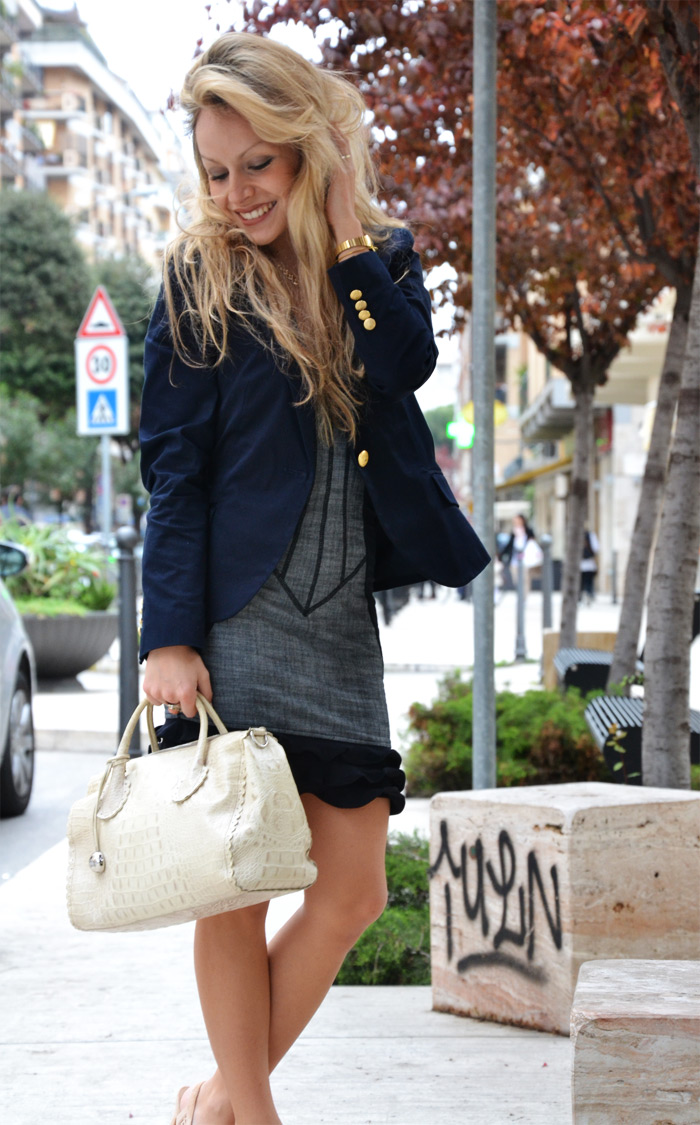 Guess by Marciano dress vestito and Furla bauletto bag - Outfit fashion blog It-Girl by Eleonora petrella