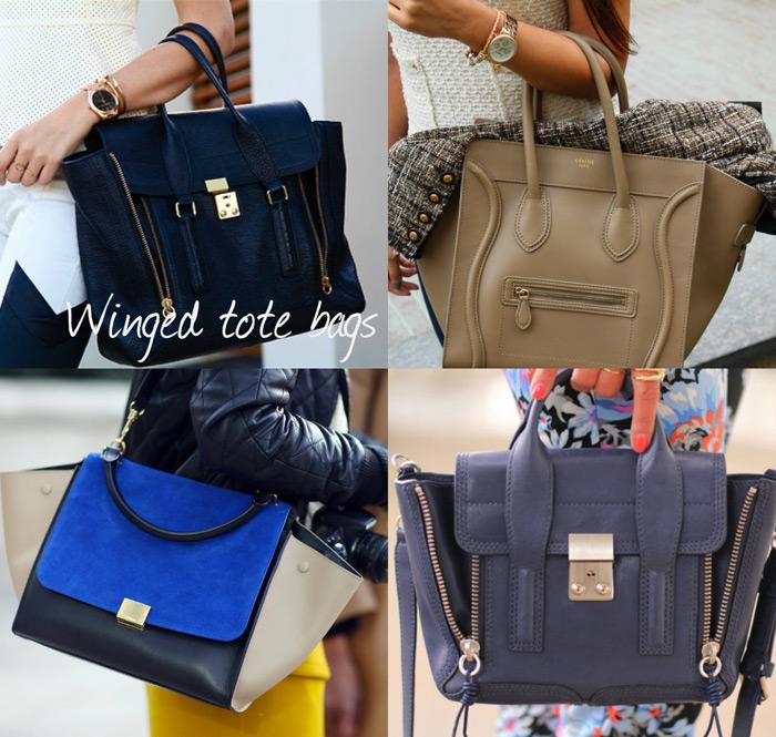 Fashion trends: winged tote bags Céline, Givenchy Antigona, Phillip Lim, Topshop - Fashion Blogger It-Girl by Eleonora Petrella