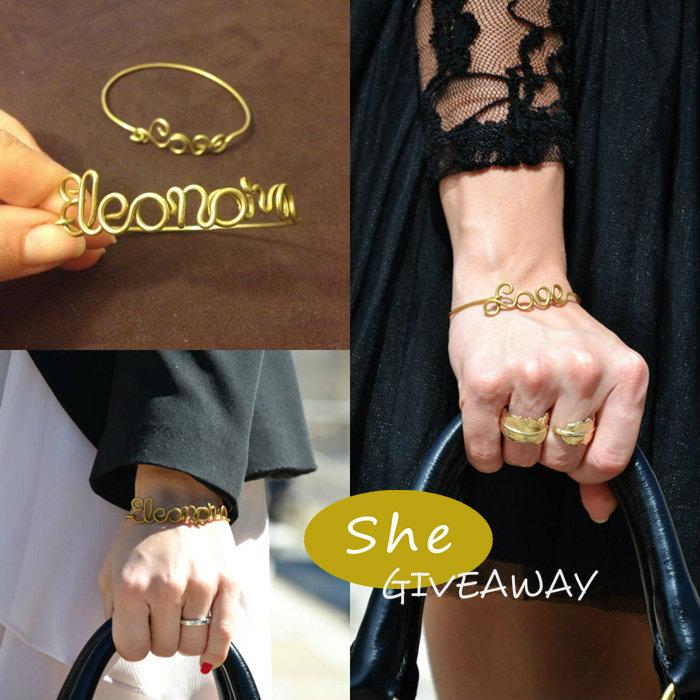She bijou personalized bracelets giveaway - fashion blogger It-Girl by Eleonora Petrella