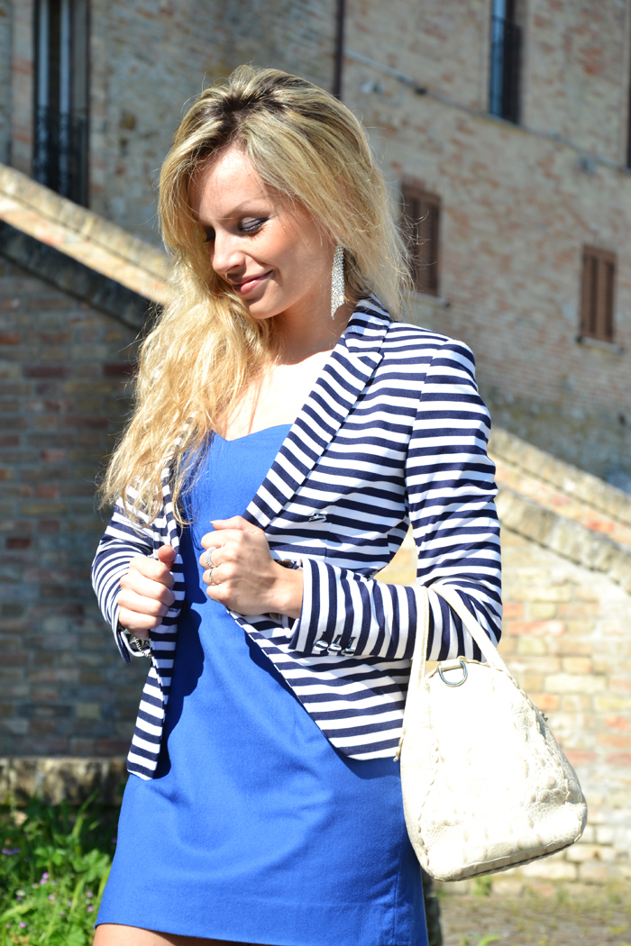 Electric blu dress and zara pumps - outfit fashion blogger spring 2013 It-Girl by Eleonora Petrella