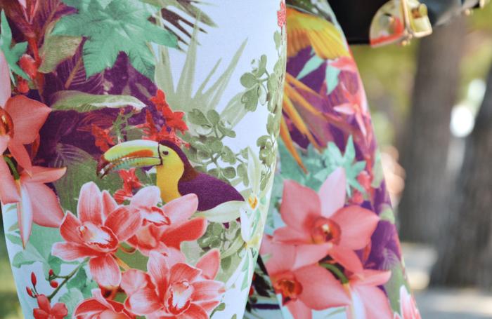 Stradivarius flowers print leggings and Asos peplum top - outfit fashion blogger summer 2013 It-Girl by Eleonora Petrella