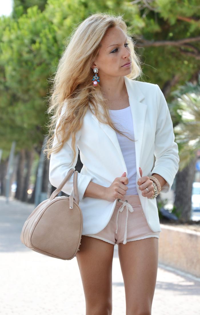 Persunmall white blazer outfit fashion blogger summer 2013 - It-Girl by Eleonora Petrella
