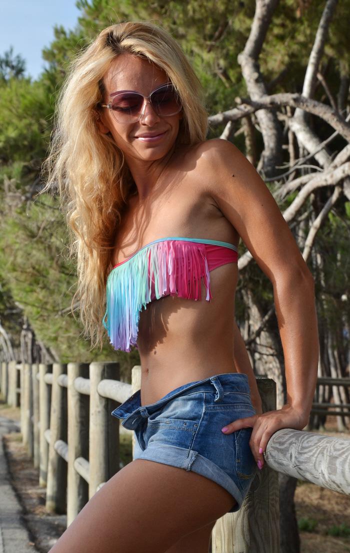 Bikini con frange, bikini fringe swim - summer 2013 italian fashion blogger blonde girl It-Girl by Eleonora Petrella