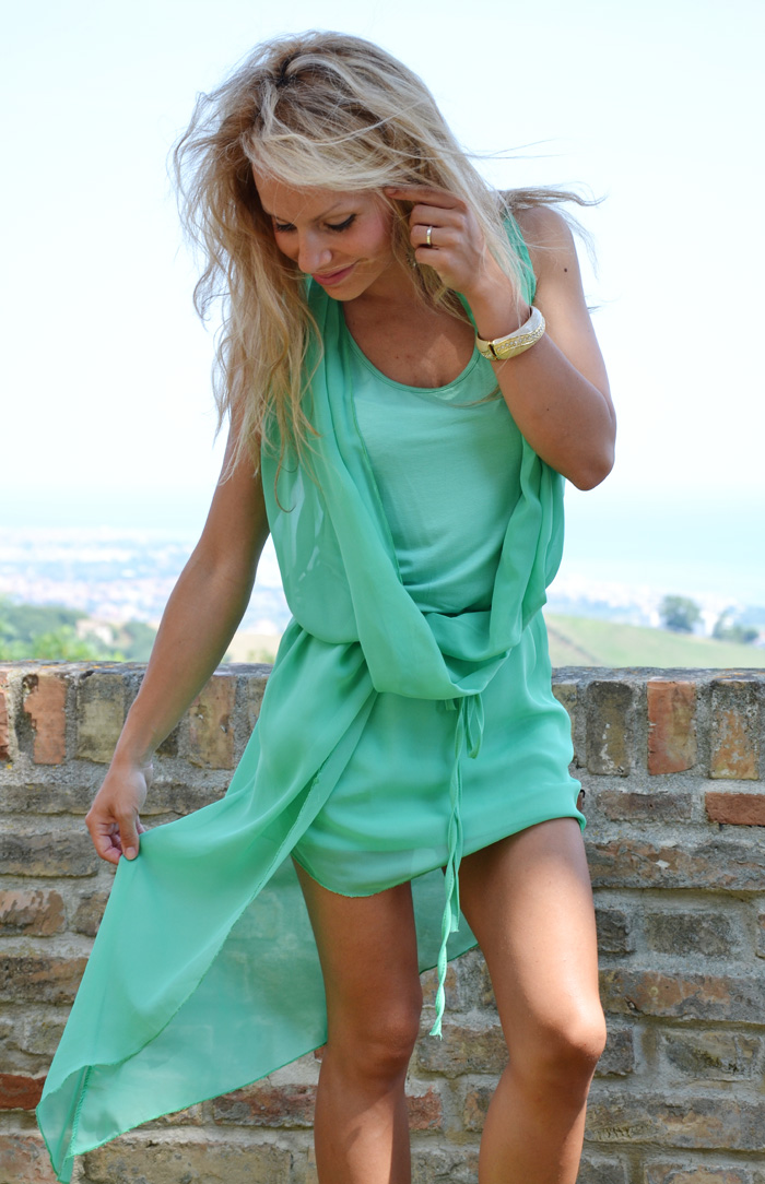 Asymmetrical dress, vestito lungo dietro corto davanti - outfit summer 2013 fashion blogger It-Girl by Eleonora Petrella