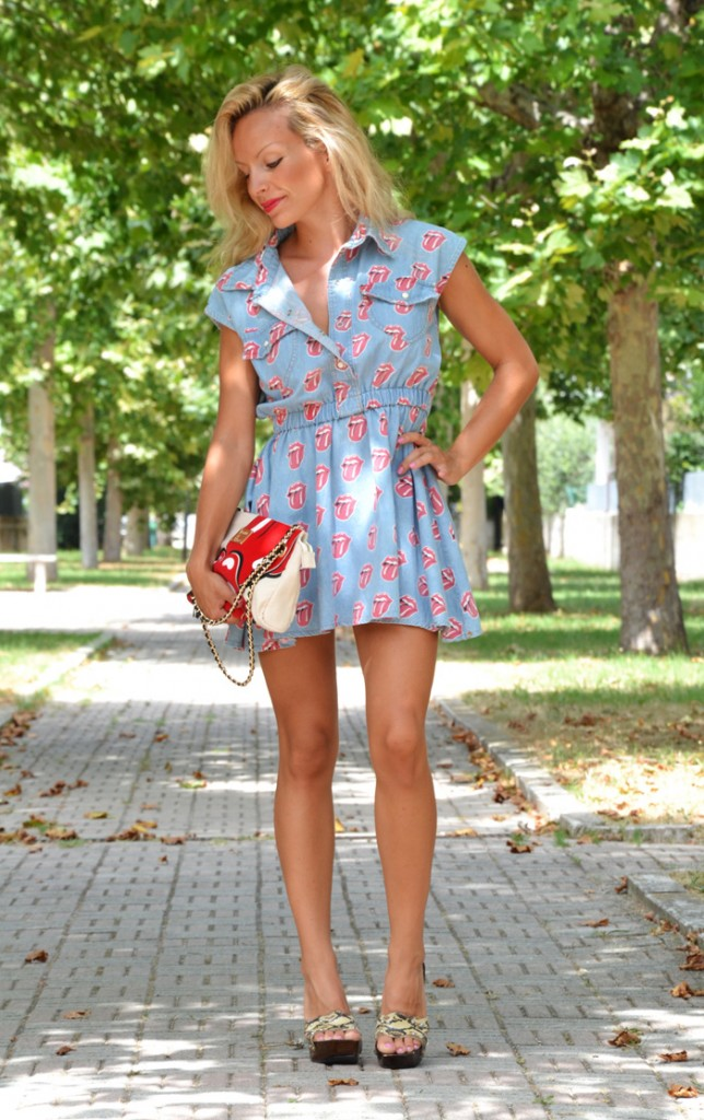 <!--:it-->Rolling Stones denim dress<!--:-->